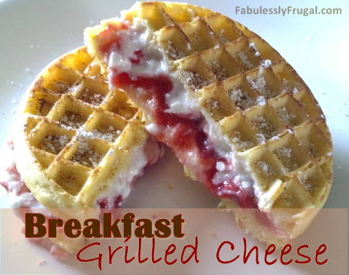 Freezer Meal Recipes:  Breakfast Grilled Cheese