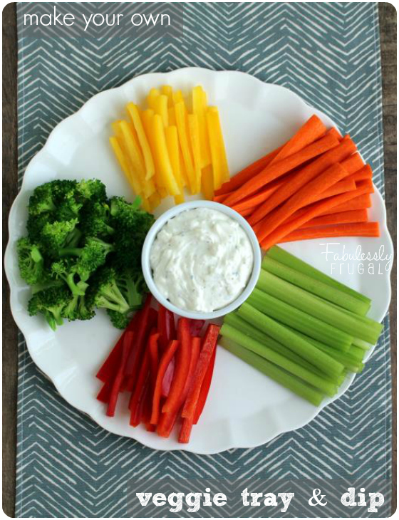 make your own veggie tray and dip